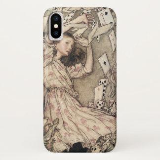 Capa Para iPhone X Aventuras de Alices do vintage no país das