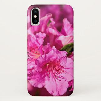 Capa Para iPhone X Azáleas cor-de-rosa