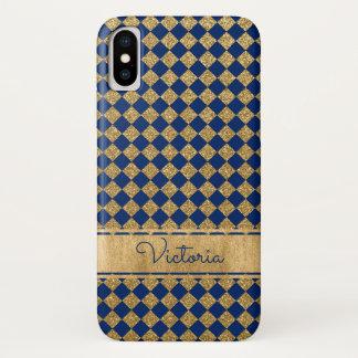 Capa Para iPhone X Azul, caso do iPhone X da case mate de Quatrefoil