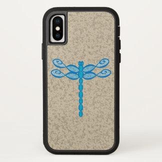 Capa Para iPhone X Azul da libélula da infinidade