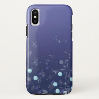 Capa Para iPhone X Azul de oceano profundo estrelado