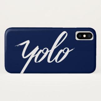 Capa Para iPhone X Azul de YOLO