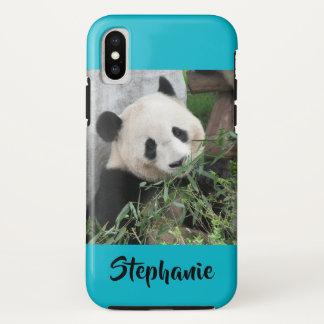 Capa Para iPhone X azul resistente do mergulhador da panda gigante do