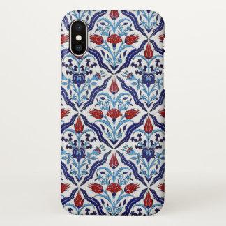 Capa Para iPhone X Azulejos de Iznik