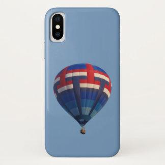 Capa Para iPhone X Balão de ar quente azul