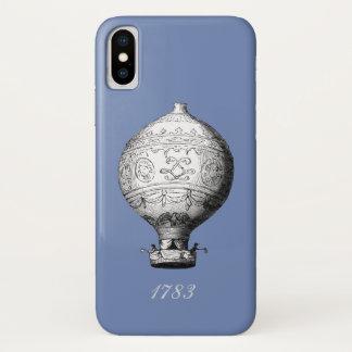 Capa Para iPhone X Balão de ar quente do vintage de Montgolfier