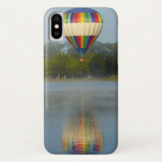 Capa Para iPhone X Balão de ar quente sobre o rio