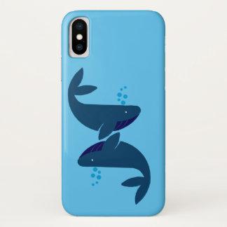 Capa Para iPhone X baleias azuis