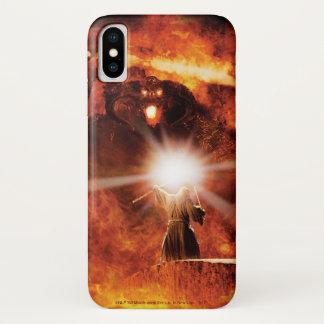 Capa Para iPhone X Balrog contra Gandalf