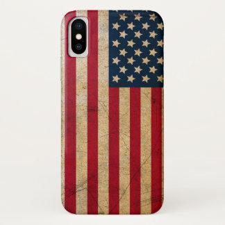 Capa Para iPhone X Bandeira americana EUA do Grunge