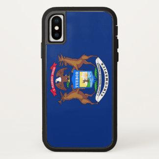 Capa Para iPhone X Bandeira de Michigan