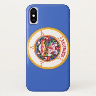 Capa Para iPhone X Bandeira de Minnesota