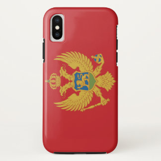 Capa Para iPhone X Bandeira de Montenegro