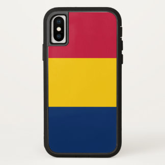 Capa Para iPhone X Bandeira de República do Tchad
