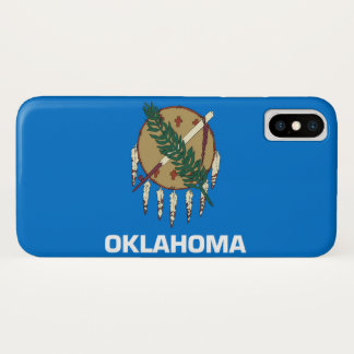 Capa Para iPhone X Bandeira do estado de Oklahoma