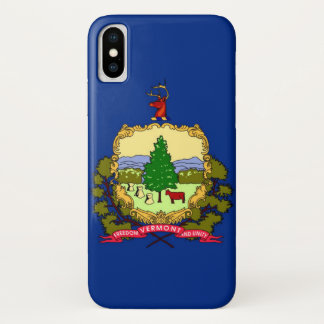 Capa Para iPhone X Bandeira do estado de Vermont