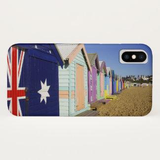 Capa Para iPhone X Banhando caixas, praia média de Brigghton, porto