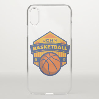 Capa Para iPhone X Basquetebol. Nome & ano feitos sob encomenda do