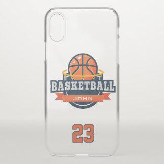 Capa Para iPhone X Basquetebol. Nome & número feitos sob encomenda do