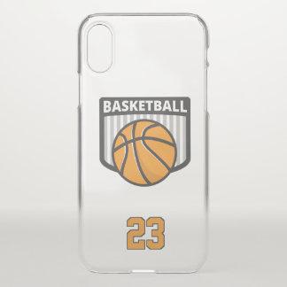 Capa Para iPhone X Basquetebol. Número feito sob encomenda