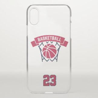 Capa Para iPhone X Basquetebol. Número feito sob encomenda do jogador