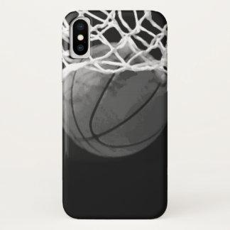 Capa Para iPhone X Basquetebol preto & branco