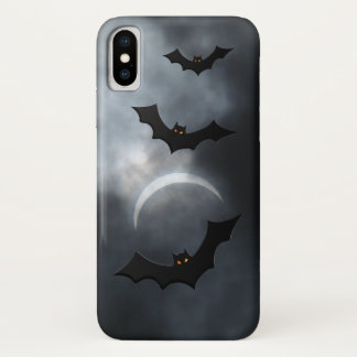 Capa Para iPhone X Bastões assustadores do Dia das Bruxas no eclipse