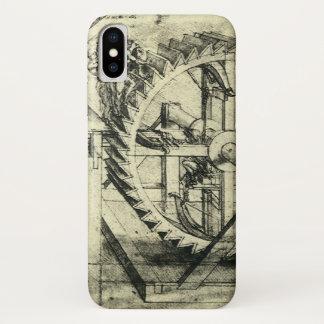 Capa Para iPhone X Besta psta escada rolante por Leonardo da Vinci