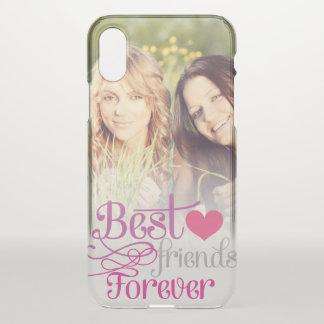Capa Para iPhone X BFF - Melhores amigos da forma para sempre com