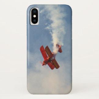 Capa Para iPhone X Biplano do conluio de Airshow