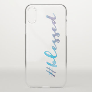 Capa Para iPhone X #Blessed, roteiro de Handlettering da aguarela