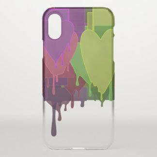 Capa Para iPhone X Blocos da cor que derretem corações