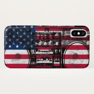 Capa Para iPhone X boombox americano