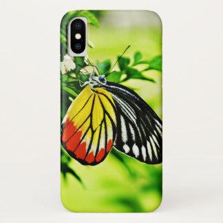 Capa Para iPhone X Borboleta bonita em flores