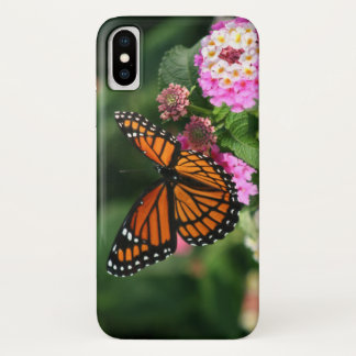 Capa Para iPhone X Borboleta bonita na flor do Lantana