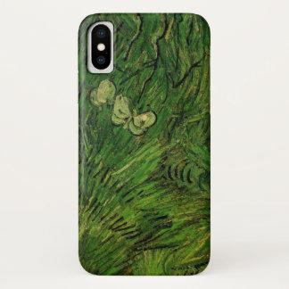 Capa Para iPhone X Borboletas brancas de Van Gogh dois, belas artes