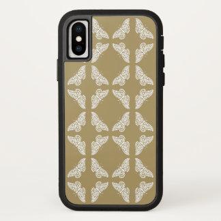 Capa Para iPhone X Borboletas das artes e dos artesanatos da teca