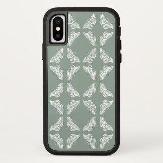 Capa Para iPhone X Borboletas das artes e dos artesanatos do peltre