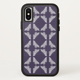 Capa Para iPhone X Borboletas roxas das artes e dos artesanatos do