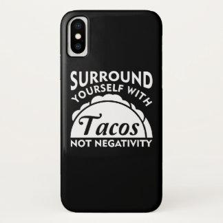 Capa Para iPhone X Bordadura você mesmo com negatividade do Taco não