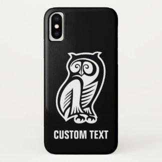 Capa Para iPhone X Branco do símbolo da coruja