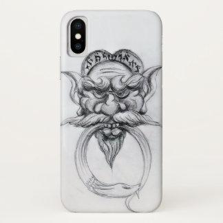 Capa Para iPhone X Branco GROTESCO do preto da MÁSCARA da FANTASIA de