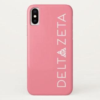 Capa Para iPhone X Branco preliminar do logotipo do Zeta do delta