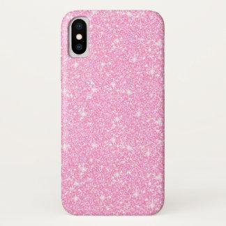 Capa Para iPhone X Brilho à moda clássico do rosa Pastel