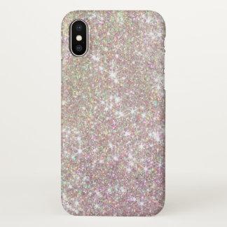 Capa Para iPhone X Brilho bonito dos Sparkles do ouro do rosa do rosa
