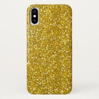 Capa Para iPhone X Brilho do ouro do falso