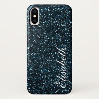 Capa Para iPhone X Brilho impresso azul escuro quente na moda