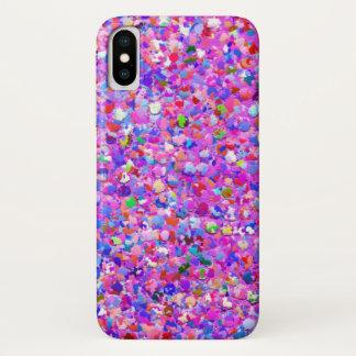 Capa Para iPhone X Brilho moderno #3 do grão do mosaico multicolorido