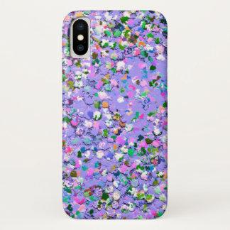 Capa Para iPhone X Brilho moderno #6 do grão do mosaico multicolorido