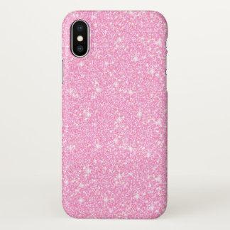 Capa Para iPhone X Brilho na moda clássico Zazzle do rosa Pastel